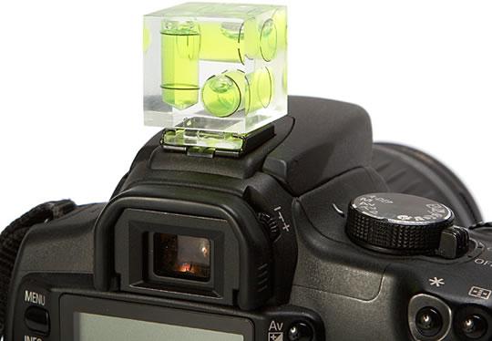 Gebruik een waterpas op je camera om scheve foto's te voorkomen