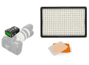 f Pixel LED Lamp Set Dimbaar DL-913 met Pixel King Pro voor Canon