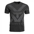 Vortex Charcoal Heather Oversize Logo T-shirt Maat L